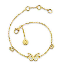 Daisy London NEW! 18ct Gold Plated Butterfly Good Karma Bracelet