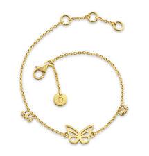 Daisy London NEW! 18ct Gold Plated Butterfly Good Karma Bracelet