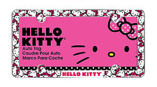 1 PC Hello Kitty Hot Pink and White License Plate Frame
