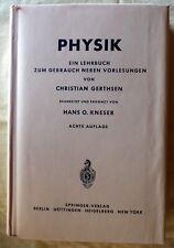 PHYSIK:  Ein Lehrbuch zum Gebrauch neben Vorlesungen von 1963 ? GERTHSEN/KNESER