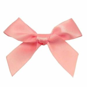 Craft Embellishment 7mm Ribbon Bows approx 35mm wide 9 colours 10 or 25 pack