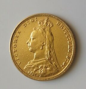 1893 Full Gold Sovereign    Melbourne Mint    Victoria Jubilee Head