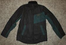 Barbour International AYR Waxed Jacket in Black/Green - Small [3723]