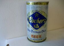 Fischer'S Old German Style Beer Can Pull Tab 12 Oz. Auburndale Fla.