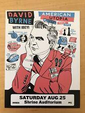 David Byrne american utopia Shrine auditorium La aug 25 2018 handbill