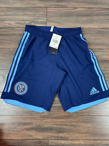 New York City FC Authentic Soccer Shorts Size S DT7136 $55 MSRP