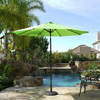 9 ft Patio Outdoor Garden Umbrella Steel Market Yard Crank Tilt- Lime Green
