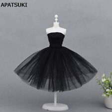 Sexy Black Little Dress For Barbie Doll One Piece Evening Dresses Barbie Clothes