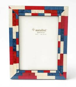Natalini Mira Photo Frame Red White and Blue Patriotic Colors Made In Italy 5x7