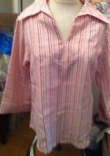 Vintage Mod Tunic Shirt Windsor striped nwt