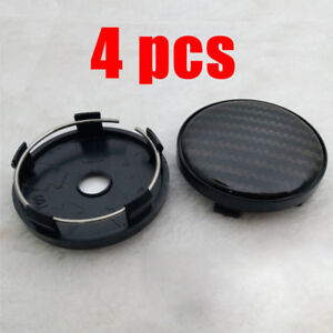 Stylish  60*58mm Carbon Fiber Surface Car SUV Motors Wheel Center Hub Caps Cover