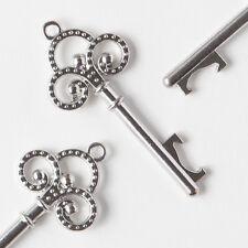 50 Antique Silver Key Bottle Openers Vintage Skeleton Trinity Keys