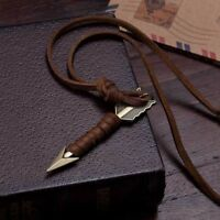 1Pc Retro Vintage Leather Arrow Punk Necklace Pendant Choker Chain Jewelry
