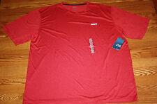 Mens Reebok PlayDry PlayDry Heathered Red Crew Neck Short Sleeve Shirt Sz XL