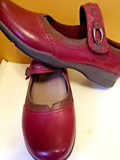 Earth Angelica Mary Jane Supportive Comfort Shoe Prune Leather Size 8D Red New