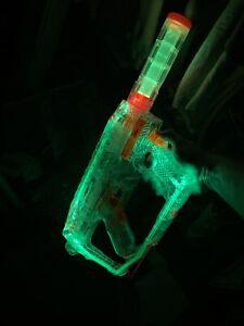 Nerf N-Strike Modulus Ghost Ops Evader Light Up Green Clear Orange Battery