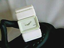 ( # 1 )NIXON - THE VEGA  women  analog watch ( 2 in ONE ) as white cuff bracelet