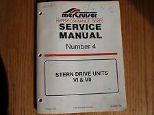 Mercruiser Hi-Performance Series Service Manual #4 90-848656 Bound Original 1996