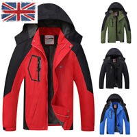 Unisex 2in1 Outdoor Hooded Patchwork Warm Coat Softshell Hiking&Ski Jacket BRO