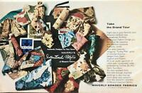 1964 Waverly Bonded Fabrics Print Ad International Portfolio of Museum Fabrics