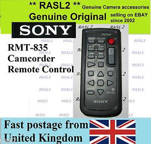 Original SONY RMT-835 WIRELESS REMOTE CONTROL handycam HDR SR PC DVD HC Range