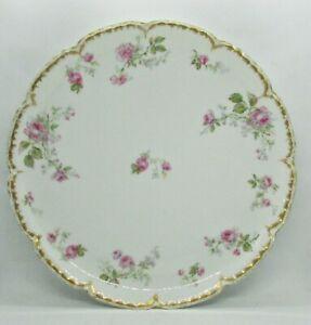 """Haviland 13"""" Chop Plate - Pink Roses - Schleiger 1145 variant"""