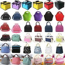 Toddler Kids Adult Lunch Bags Insulated Cool Bag Picnic Tote School Lunchbox