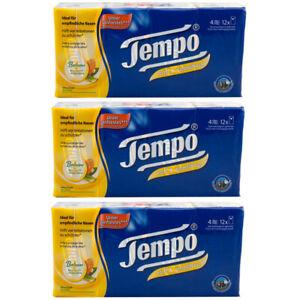 Tempo Soft & Sensitive Handkerchiefs 4 Ply 3 x 108 Piece = 324 Piece