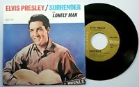 "Near Mint Elvis SURRENDER / LONELY MAN  7"" VINYL 45 CANADIAN CANADA"