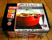 NEW LARGE RED STEW POT CASSEROLE POT DISH WITH LID CAST IRON 3.6 LITRES RRP £80