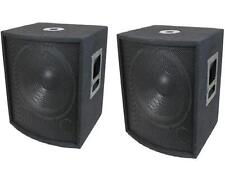 "NEW (2) 18"" SUBWOOFER Speakers PAIR.Woofer Sub w/ Box.DJ.PA.BASS.Pro Audio.Sound"