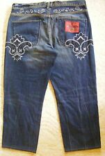 The Year Of ... Jeans 100% Cotton Baggy Loose Big & Tall Hip Hop Size 40-CL0385