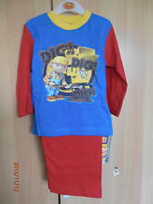 Bob The Builder (Dig Dig) Boys Pyjamas Aged 12-18 Months Long Sleeves and Legs