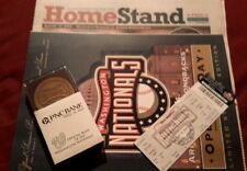 WASHINGTON NATIONALS INAUGURAL GAME DAY PROGRAM, GAME GUIDE, TICKET STUB, COIN