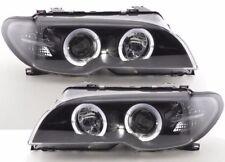 BMW 3 Series E46 03-05 BLACK Halo Angel Eyes Front Headlights Lamp Lights -Pair