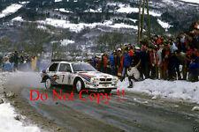 Henri Toivonen Martini Lancia Delta S4 Monte Carlo Rally 1986 Photograph 1