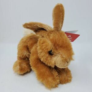 """Aurora Betty Easter Bunny Rabbit Plush Stuffed Animal 6"""" Brown Spring With Tag"""
