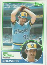 FREE SHIPPING-MINT-1983 (BREWERS) Topps #142 Mike Caldwell