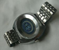 LUCERNE DIGITAL WRISTWATCH - MANUAL WINDING - 42MM DIAMETER - STEEL MESH - SWISS