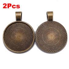 Necklace Pendant Setting Cabochon Cameo Base Tray Bezel Blank Cabochons Findings
