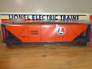 LIONEL O GAUGE # 6-19303 LIONEL LINES HOPPER CAR WITH COAL LOAD AND BOX