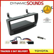 Car CD Stereo Fitting Kit Fascia Panel, Wiring Harness For Toyota Corolla 2002>