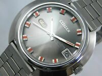 CITIZEN Crystal Seven 2815-Y AUTOMATIC Day-Date JAPAN Silver Men's Vintage Watch