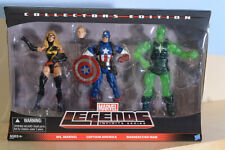 Ms.Marvel Captain America Radioactive Man Marvel Legends 3 pack MIMB