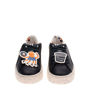 PUMA x TINY COTTONS SPECKLEPS Kids Leather Sneakers EU30 UK11.5 US12.5 Patches