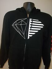 Mens Diamond Supply Co Zip Up Hoodie/Sweatshirt~Black~Size Small