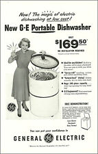 1948 vintage appliance AD GE Portable Dishwasher Odd tub design ! 020717