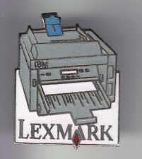 RARE PINS PIN'S .. INFORMATIQUE PC ORDINATEUR COMPUTER IMPRIMANTE LEXMARK ~DD
