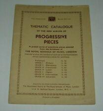 PROGRESSIVE PIANOFORTE PIECES - ROYAL SCHOOL OF MUSIC MINIATURE EDITION