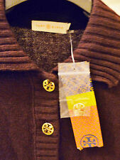 NWT $295 Tory Burch Gertrude Short-Sleeve Polo Sweater M Cashmere Blend AUTHENTI